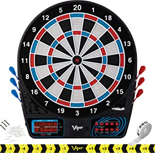 Viper 777 Electronic Dartboard, Easy To Use Button Interface, Red White And Blue Segments, Double Height Cricket Scoreboar...