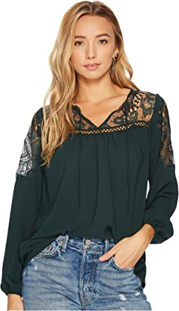 BB Dakota - Leeland Lace Yoke Top