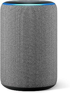Amazon Echo (3.ª generación) reacondicionado certificado, altavoz inteligente con Alexa, tela de color gris oscuro