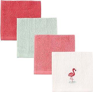 Luvable Friends Unisex Baby Super Soft Cotton Washcloths, Flamingo, One Size