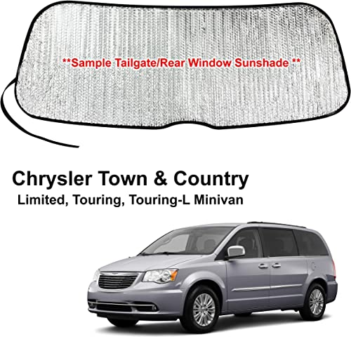 high quality YelloPro Rear Tailgate Window Sunshade Custom Fit for 2008 2009 2010 2011 2012 2013 2014 new arrival 2015 online 2016 2017 2018 Chrysler Town & Country Limited, Touring, Touring-L Minivan, UV Reflector Protection online