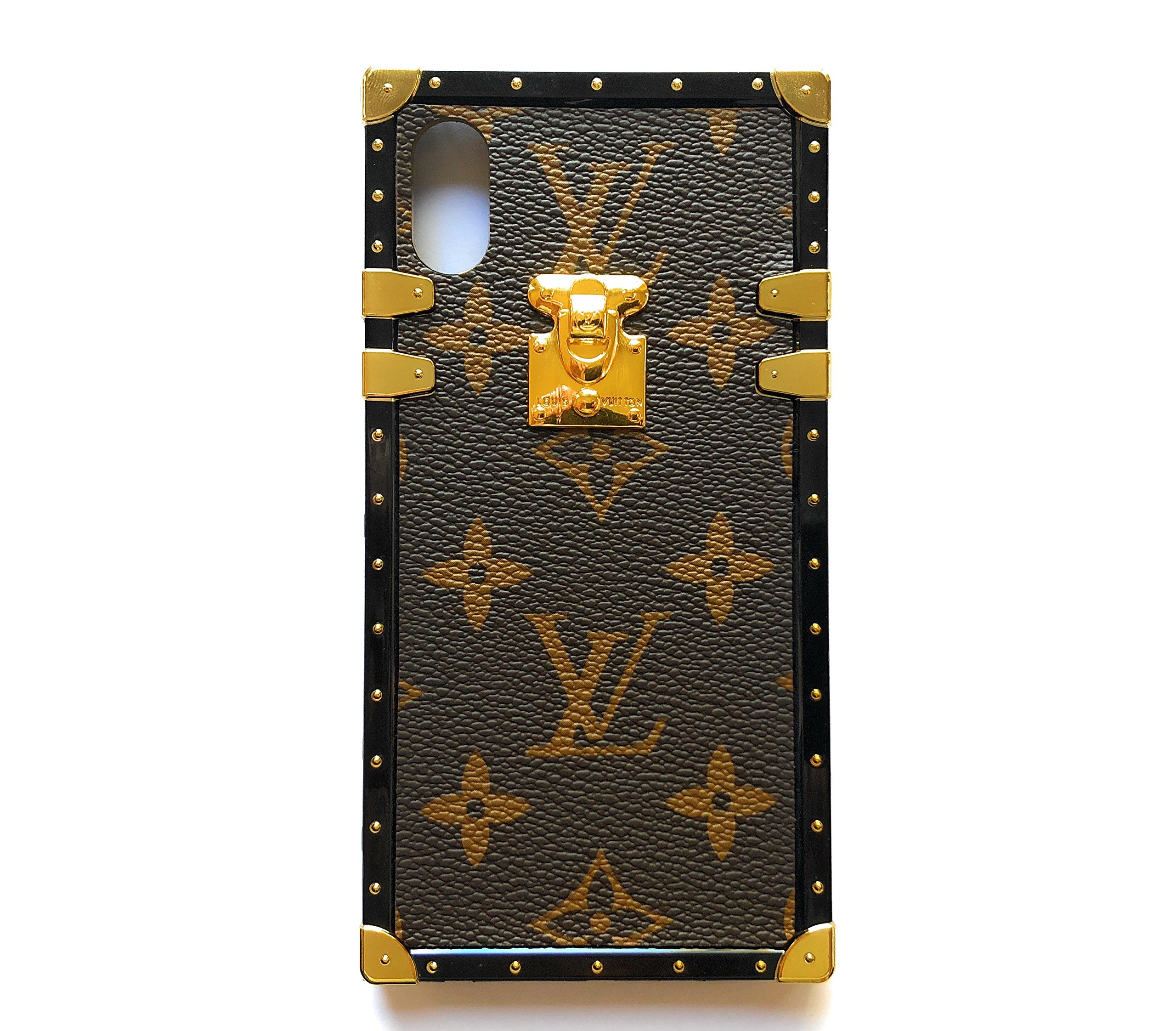louis vuitton phone case amazon comvintage trunk luxury monogram for iphone handmade with premium silicone soft flexible anti