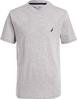 Nautica Boys Short Sleeve Solid Heathered V-Neck Tee Short Sleeve Shirt
