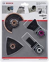 Bosch Professional Set con 4 unidades para trabajos en azulejos con multiherramienta (mortero y cemento cola, Starlock, accesorios para herramientas multifunción)