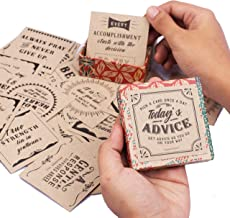 Today's Advice Inspirational Cards Deck | Positive Affirmations Cards for Daily Encouragements | Great Assorted Cards for All Occasions | Unique Inspirational Gifts for Women and Men