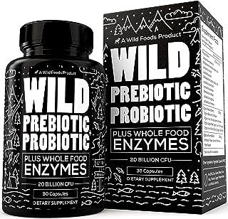 Wild Prebiotics and Probiotics for Women and Men - Breakthrough Digestive Enzymes Supplement Supports Gut Health & Digesti...