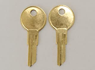 Pair of 2 -Replacement Keys for T01 T02 T04 Husky Tool Box (Husky only) Home Depot. Keys pre Cut to Code by keys22 (T01 Husky)