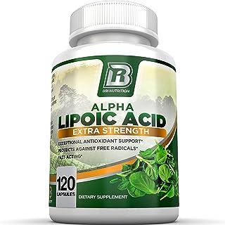 BRI Nutrition Alpha Lipoic Acid 250mg 120 Count Vegetable Cellulose Capsules - Universal Antioxidant High Potency - 120 Se...