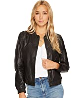 Lucky Brand - Leather Bomber Jacket