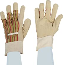 West Chester 23045 Suede Pigskin Leather Palm Glove with Polyester Canvas Back, Work, Band Cuff, Women's (Pack of 1 Pair)
