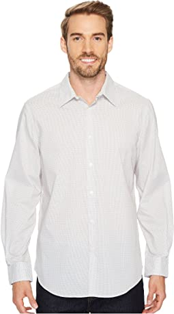 Perry Ellis - Long Sleeve Mini Diamond Dot Button Down Shirt