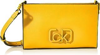 حقائب السفر ومعدات السفر بتوقيع ايه دبليو والمارة بالجسم من كالفن كلاين، بلون اصفر، 24 سم - K60K606504