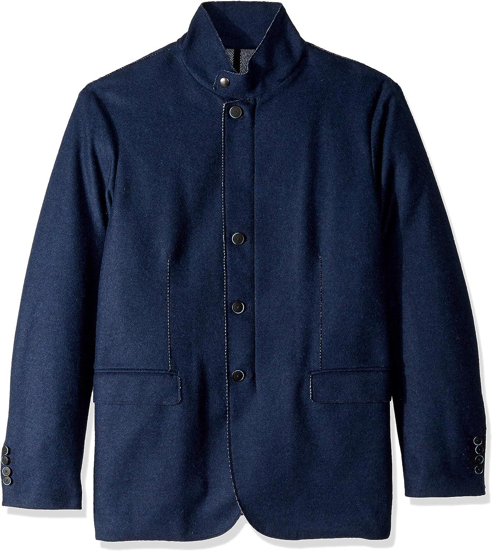 Bugatchi Many popular brands Men's Wool Blend Four Max 52% OFF Button Blazer Solid