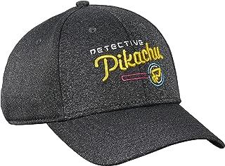 Bioworld Detective Pikachu - Grey Logo Baseball Cap Hat - Adjustable