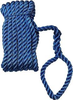 Green Home Festmacher Leine, Ankerleine gespleißt Festmacherleine mit Auge gespleißt 14 mm x 10 m – Polyester PES – Tau Tauwerk blau