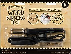 Plaid wood burning and stencil cutting tool,