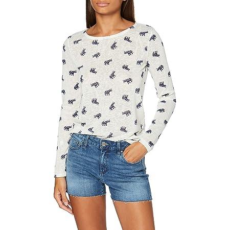 Springfield AOP Bajo Crochet Camiseta, Beige (Ivory 96), XS ...