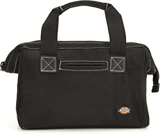 Dickies 12-Inch Durable Canvas Work Bag for Painters, Carpenters, and Builders, Heavy-Duty Zipper, Reinforced Handles, Black