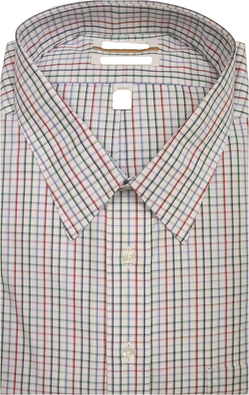 Gold Label Roundtree & Yorke Non-Iron Regular Big Tall Point Collar Check Dress Shirt S85DG050 Blue Multi