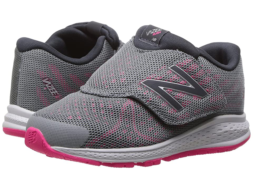 New Balance Kids Vazee Rush v2 (Infant/Toddler) (Grey/Pink) Girls Shoes