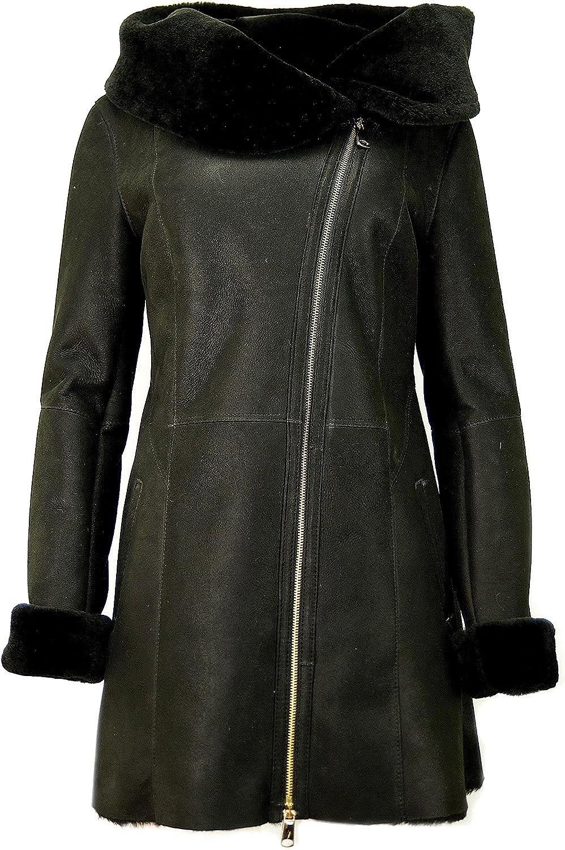 Womens Sheepskin coat, Lambskin coat / Leather, fur coat KPKK-0005