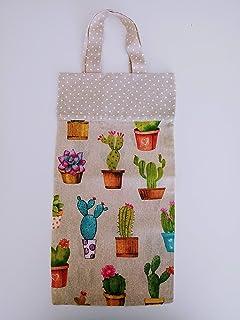 bolsas de pan de tela cactus