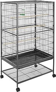 TecTake 800449 Jaula para Pájaros, Pajarera XXL con Ruedas, para Aves Canarios Periquitos - Varios Modelos (sin Techo   No. 402287)