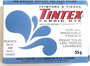 TINTEX Brand Peacock Blue Fabric Dye #48