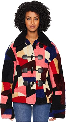 Soho Faux Shearling Patchwork Jacket
