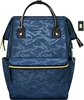 KROSER Laptop Backpack 15.6 Inch Stylish School Computer Backpack Casual Daypack Laptop Bag Water Repellent Business Bag with USB Port for Travel/Business/College-Camouflage Blue