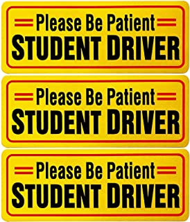 Eoofada Student Driver Sign, Reflective Student Driver Magnets for Car