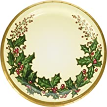 Creative Converting 56568 25 Count Winter Holly Paper Lunch Plates