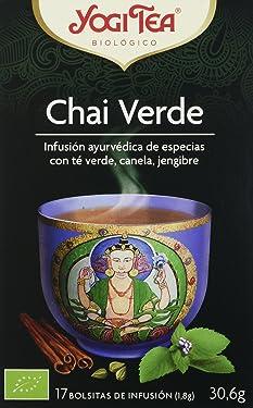 Yogi Tea Infusión de Hierbas Chai Verde - 17 bolsitas - [confezione da 3]