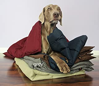 Swift Home Pet Comforter, Dogs and Cats Blanket and Throw, Perfect for Home, Car, Pet Bed, Crate Pad, in a Pet Carrier, and More. Soft, Lightweight Warmth, Durable, and Washable - Grey, L/XL