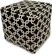 Majestic Home Goods Links Indoor/Outdoor Bean Bag Ottoman Pouf Cube, 17