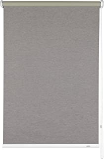 Gardinia 33364 - Roller Blind Shade with Side Chain, Wall Installation, Ceiling or Recess, Opaque, Mounting kit Included, Grey, 102 x 180 cm (LxA)