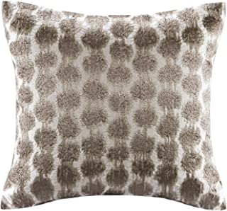 Echo Odyssey Cotton Accent Throw Pillow, Global Inspired Embroidered Geometric Square Geometric Square Fashion Decorative Pillow, 16X16, Multi