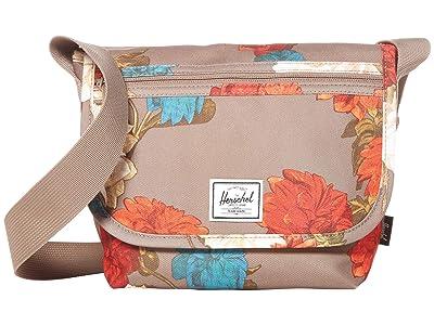 Herschel Supply Co. Grade Mini (Vintage Floral Pine Bark) Messenger Bags