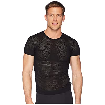 Emporio Armani Tech Mesh Slim Fit Crew Neck T-Shirt (Black) Men