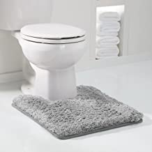 Genteele Non-Slip Memory Foam Contour Shaggy Bathroom Mat, Water Absorbent, Super Plush Bath Mat, Washable Bathroom Rug, 2...