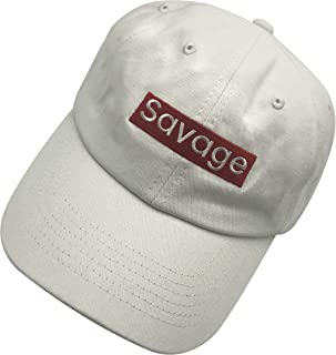 qumeng zzk Savage Dad Hat Baseball Cap Embroidered Dad Hat Adjustable Hats Cotton Cap