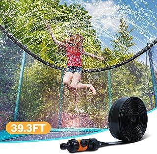 Ligttle Trampoline Sprinkler for Kids - Outdoor Trampoline Water Sprinkler for Kids and Adults, Trampoline Accessories Sprinkler 39ft Long for Water Play, Games, and Summer Fun in Yards