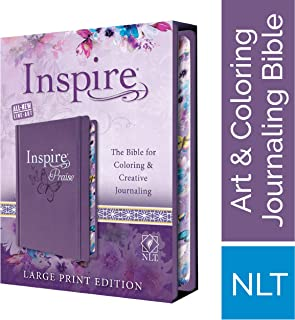 Tyndale NLT Inspire PRAISE Bible (Large Print, Hardcover, Purple): Inspire Coloring Bible–Nearly 500 Illustrations to Colo...
