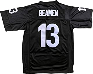 MVG ATHLETICS Any Given Sunday # 13 Willie Beamen Football Jersey Embroidered (Black) S-XXL