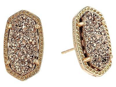 Kendra Scott Ellie Earring (Rose Gold/Rose Gold Drusy) Earring