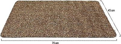 com-four® 2X Tappetino per Ingresso, zerbino in Diversi Colori (02 Pezzi - Trappola per sporcizia 75 x 45 cm)