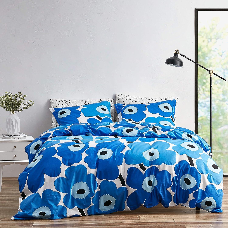 Marimekko 221460 cheap Unikko Duvet discount Set Twin Cover Blue