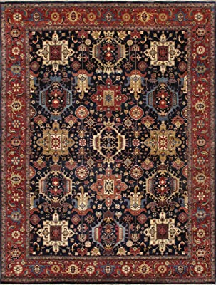 Safavieh Mahal Collection Mah655c Traditional Oriental Non Shedding Stain Resistant Living Room Bedroom Accent Rug 2 2 X 4 Navy Red Furniture Decor