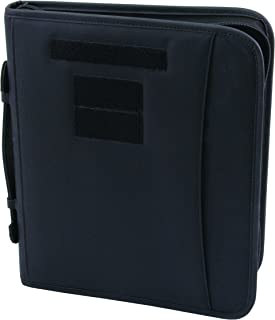 Field Ready Black Military Zippered 3 Ring Binder And Padfolio