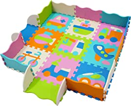 MU SHEN Baby Play Mats Foam Play Mat Tiles Jigsaw Puzzle Interlocking Floor for Children,Kids and Toddlers Gym Exercise and Crawling EVA Saft mat 10143009